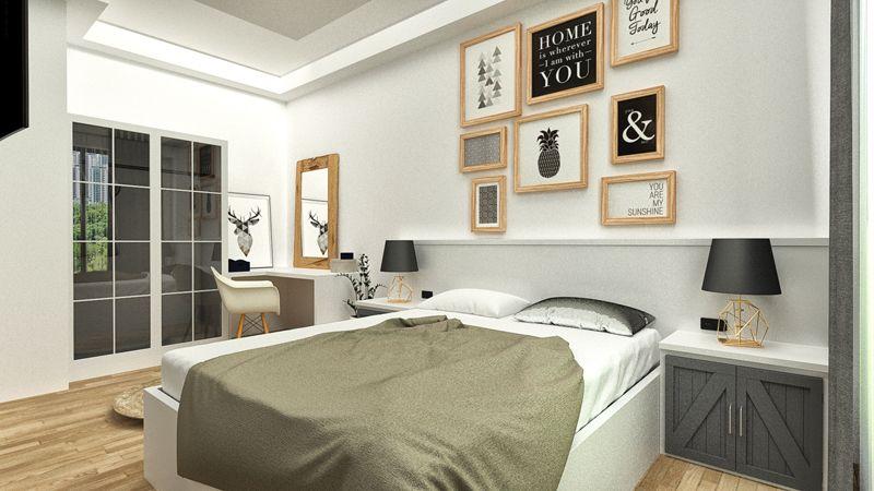 İç Mimarlık Yatak Odası Projesi